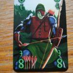 Jede Karte bei Wizard hat eine Farbe und einen Wert.
