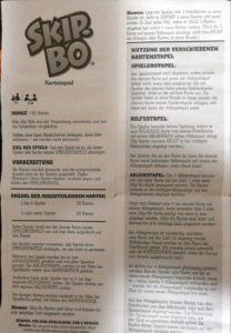Skip-Bo Anleitung (PDF) auf deutsch